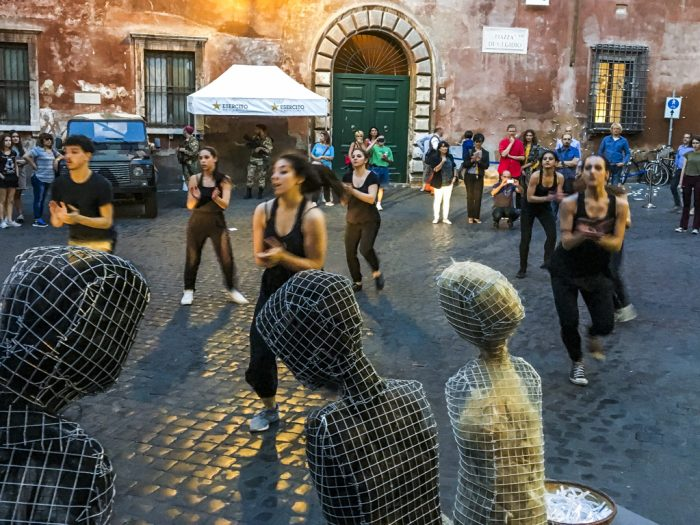 Roma 2016 Street Performance piazza Sant'Egidio